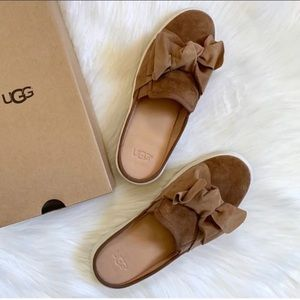 UGG Lucy Bow Suede Sneaker Mules